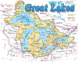 Map Great Lakes