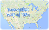 Geographical map USA