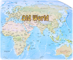 Map old world