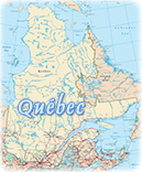 Map Quebec