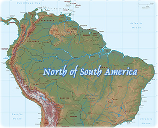 North South America